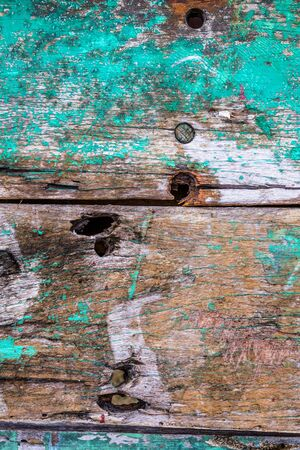 Old rusty color hardwood planks