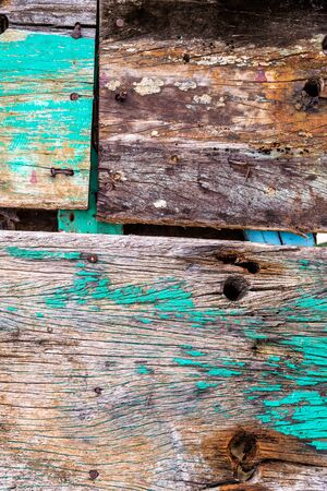hardwood: Old rusty color hardwood planks