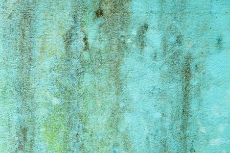 Weathered rusty blue cement wall texture closeup for background user