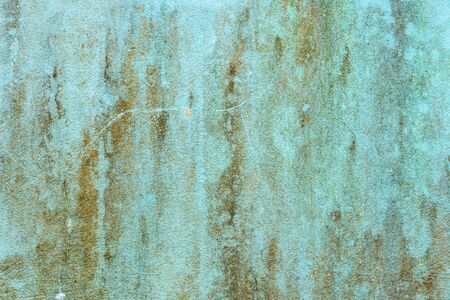 Weathered rusty blue cement wall texture closeup for background use