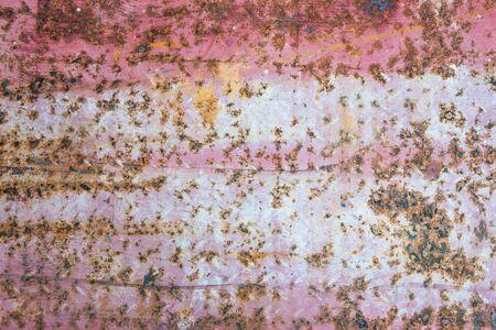Weathered rusty steel plate texture closeup Stock Photo