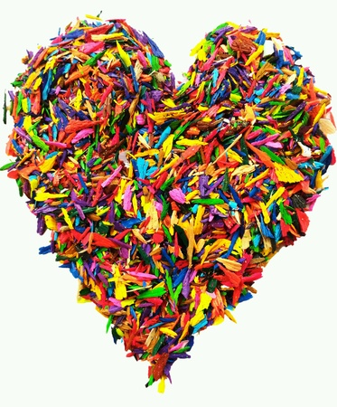 Colorful heart shape isolated