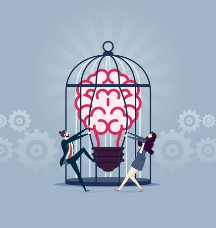 Set free ideas - Business Concept vector illustration