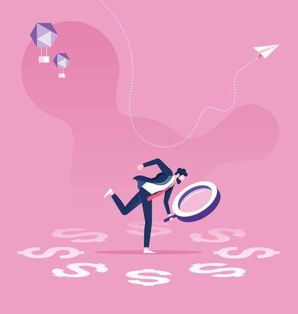 Business Financial Audit concept Vecteurs