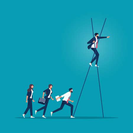 Ladder leading up to make more visionary, make more visionary concept Vektorgrafik