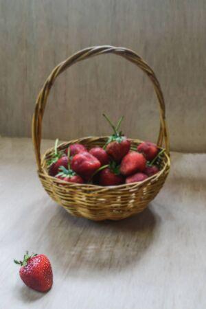 strawberrys: Strawberrys basket Stock Photo