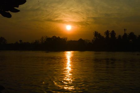 hooghly: The sun was falling on the skyline.
