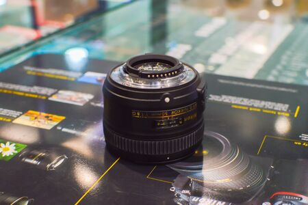 Bangkok Thailand: January 29, 2017 distributor Lens nikon , generation 50 mmF  1.8 G introduced its device capabilities.