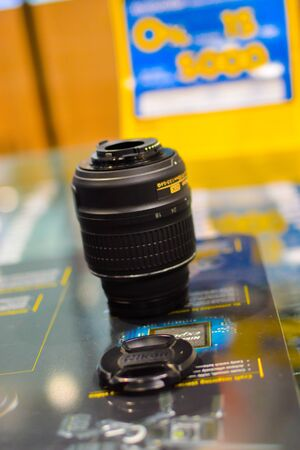 Bangkok Thailand: January 29, 2017 distributor Lens nikon , generation 50 mmF  1.8 G introduced its device capabilities.