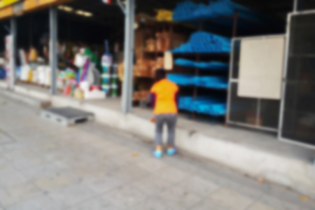 blurred photo, Blurry image, Hardware shop,background