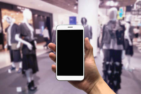 closet: blurred photo, Blurry image,People shopping in  Department Store, background