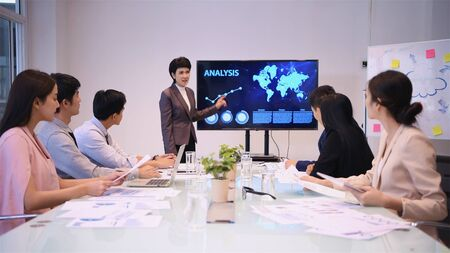 Business concept. The executives are meeting together in the room. Stockfoto