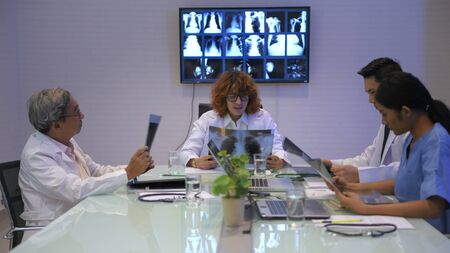 Medical concept. Medical concept. Doctors are meeting together in the office. 4k Resolution.