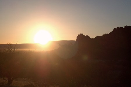 red rocks: Sunset Over Red Rocks In Arizona