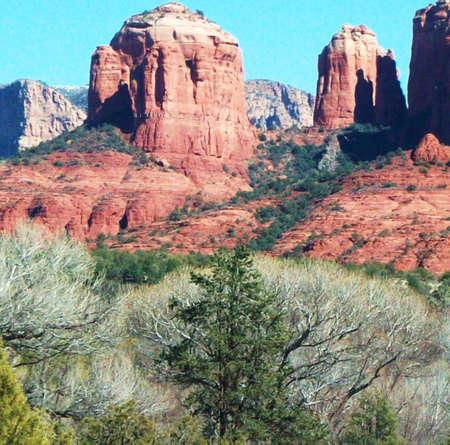Red Rocks Landscape In Arizona