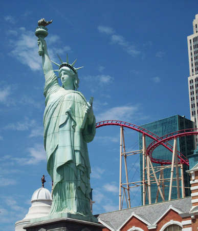 las vegas strip: Statue Of Liberty On Las Vegas Strip