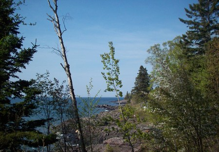 north shore: Landscape On The North Shore Of Minnesota