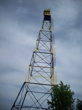 Black And Yellow Electric Tower