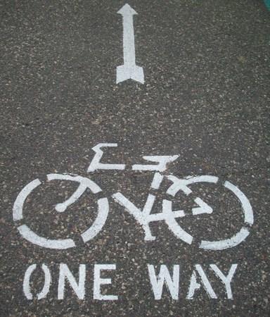 Vélo Symbole Path Banque d'images - 41475874