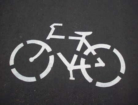 active arrow: Biking Path Symbol Stock Photo