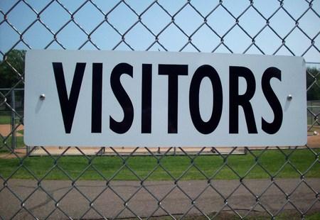 Bezoekers Team Sign