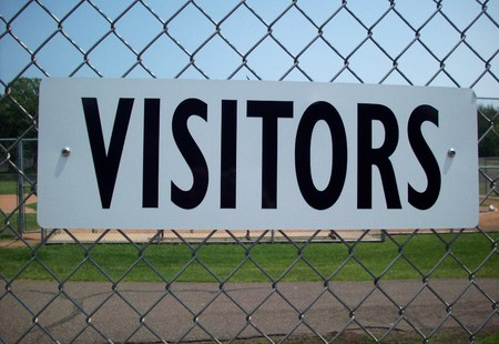 Visitors Team Sign