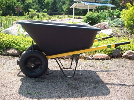 wheelbarrow: Wheelbarrow Stock Photo