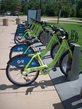 Park and Ride Bikes Stockfoto - 43036670