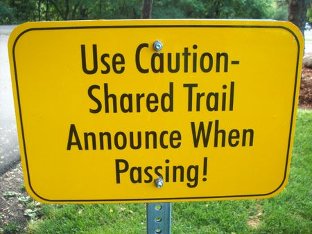 trail sign: Trail Sign Stock Photo