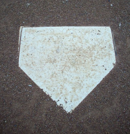 plate: Home Plate Stock Photo