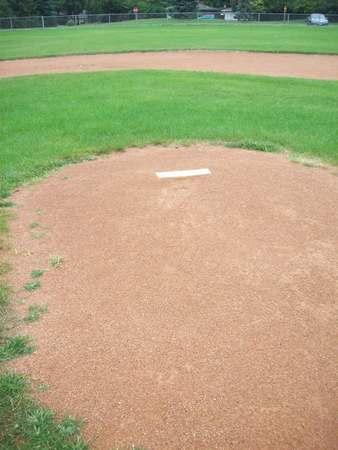 Pitchers Mound Stock Photo