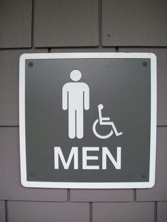 bathroom sign: Men Bathroom Sign