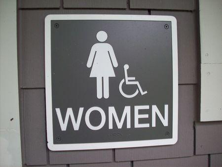 bathroom sign: Women Bathroom Sign Stock Photo