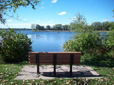 overlook: Bench at the Lake
