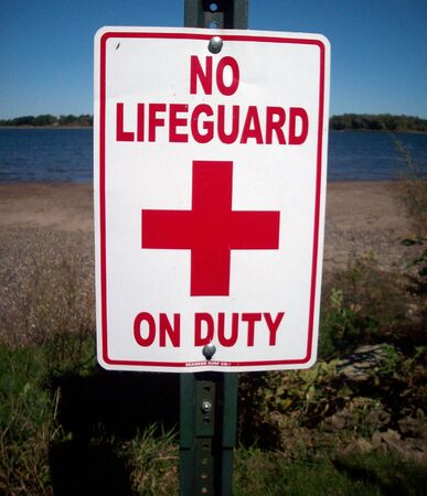 life guard sign no lifeguard on duty stock photos pictures royalty free no