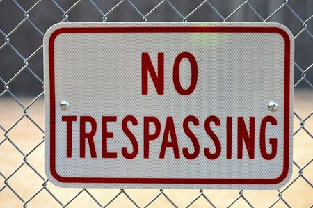 trespassing: No Trespassing Sign Stock Photo