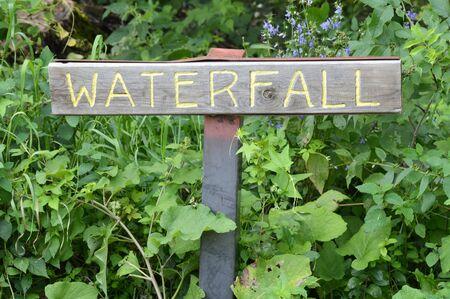 Waterfall Sign 版權商用圖片