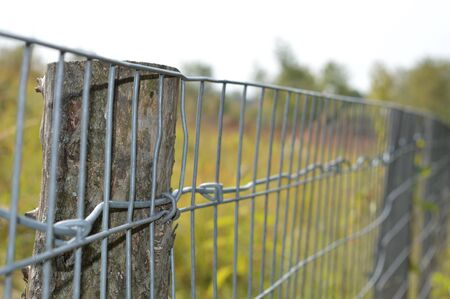 wire fence: Fence in the prairie