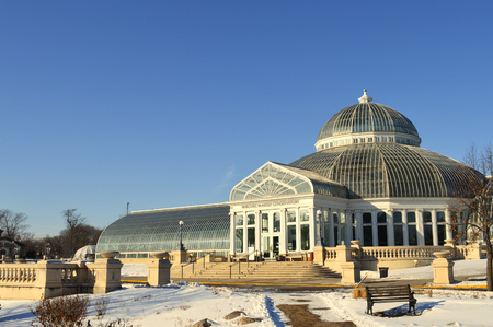 Como Zoo and Conservatory in St. Paul, MN during winter Archivio Fotografico - 126832509
