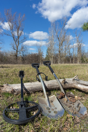 archaeologist: Search for coins with metal detectors and shovels.