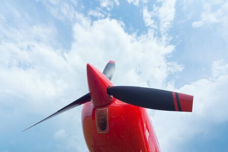 airplane ultralight: The front part of the aircraft with a propeller.