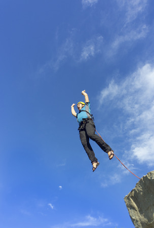 foolishness: The first jump off the cliff with a safety rope.
