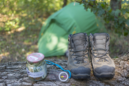 Fundraising for the trip in the mountains with a tent.
