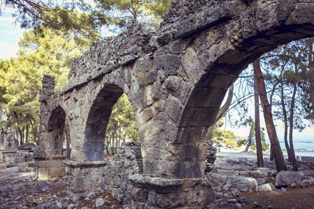 The ruins of the ancient civilization of Rome. Stock Photo