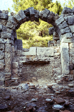 olympus: The ruins of the ancient civilization of Rome. Stock Photo