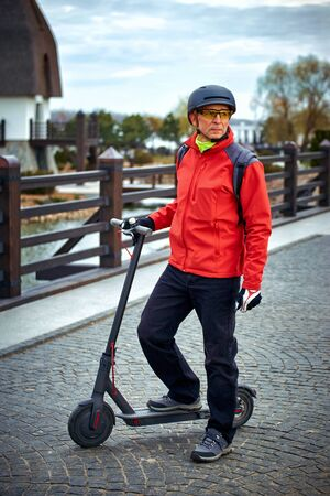 Electric scooter is an economical means of transportation in the city.