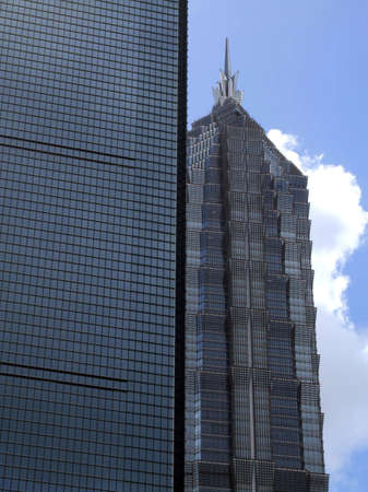 pu dong: Jinmao Tower and Shanghai World Financial Center.