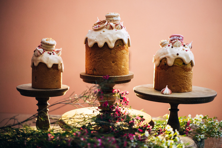 Easter Cakes - Russian and Ukrainian Traditional Kulich, Paska Easter Bread