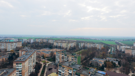 Aerial view of the city from a birds eye view