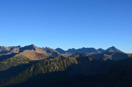 gory: Widok na gory z giewontu